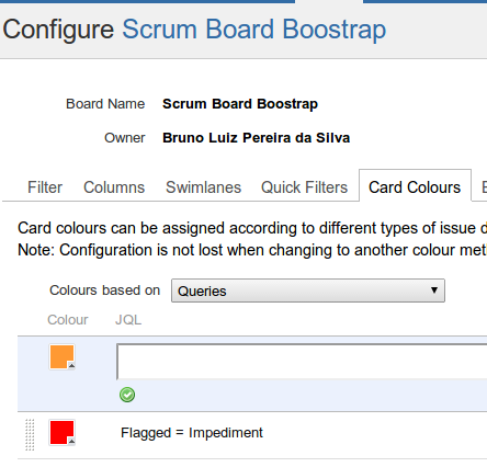 Configure Board - Flagged as Impediment - Rivendel JIRA