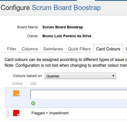 Configure Board - Flagged as Impediment - Rivendel JIRA