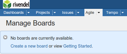 Manage Boards - Rivendel JIRA