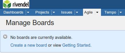 Manage Boards - Rivendel JIRA