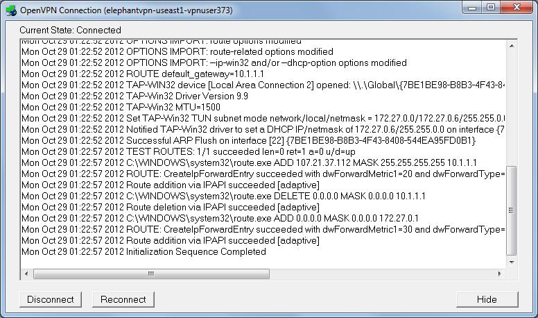 conexão OpenVPN Windows