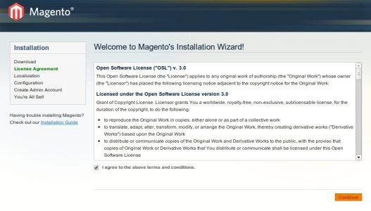 Magento Installation Wizard 1-2